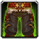 Crafted Dreadful Gladiator's Ironskin Legguards